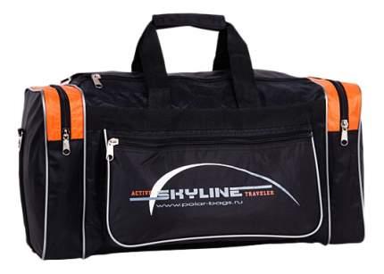 Дорожная сумка Polar 6007 черная/оранжевая 54 x 21 x 27