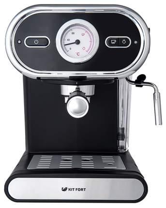 Рожковая кофеварка Kitfort КТ-702 Silver/Black
