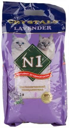 Впитывающий наполнитель для кошек №1 Crystals силикагелевый, лаванда, 2 кг, 5 л