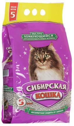 Наполнитель Сибирская кошка Экстра комкующийся 5 л без запаха
