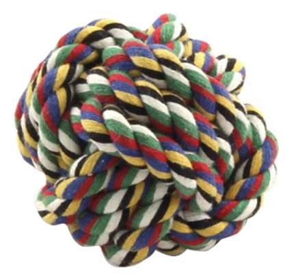Апорт для собак Triol Веревка Мяч, разноцветный, 5 см