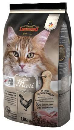 Сухой корм для кошек Leonardo Adult Maxi GF, беззерновой, для крупных пород, курица, 1,8кг