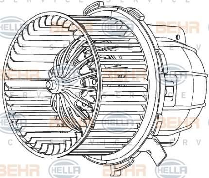 Двигатель моторчика печки Hella 8EW 351 040-251