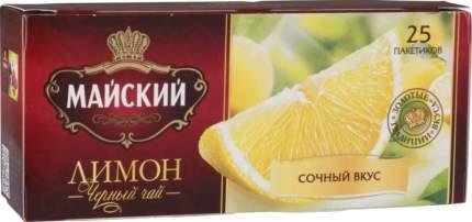 Чай черный Майский лимон 25 пакетиков