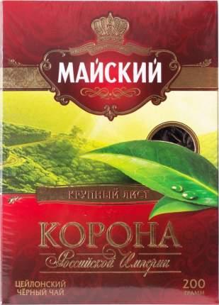 Чай черный Майский корона Российской Империи листовой 200 г