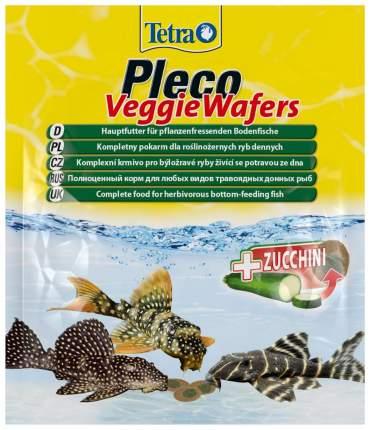 Корм для донных рыб Tetra Pleco Veggie Waffers, с цуккини, палочки, 15 г