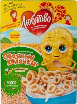 Готовый завтрак колечки Любятово овсяные с натуральным медом 200 г