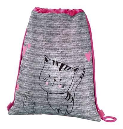 Мешок для обуви Hama Lovely cat серый/розовый 00139113