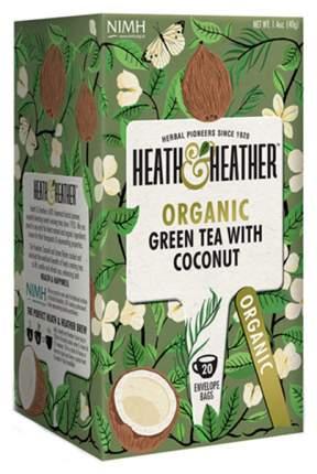 Чай зеленый Heath&Heather с кокосом Органик 20 пакетиков