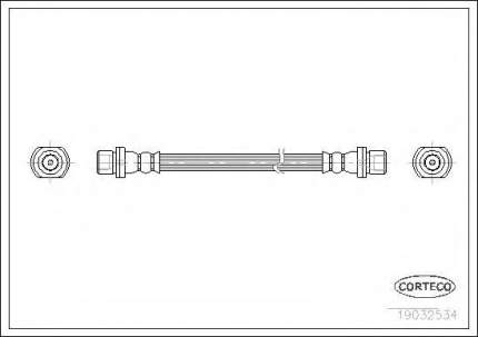 Шланг тормозной системы Corteco 19032534