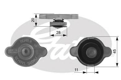 Крышка радиатора Gates RC232