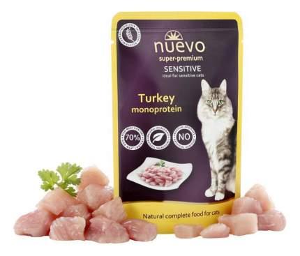 Влажный корм для кошек nuevo sensitive, индейка, 16шт, 85г