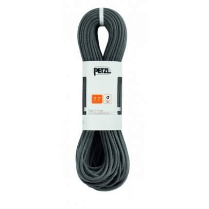 Веревка динамическая двойная Petzl Paso 7,7 мм, черная, 60 м