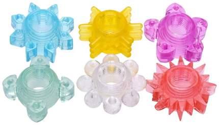 Набор из 6 разноцветных эрекционных колец Enhance 6 Piece Cock Ring Set