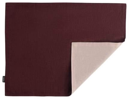 Салфетка под приборы с декоративной обработкой Essential 35х45 бордо