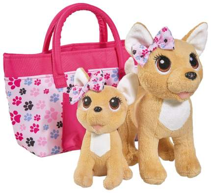 """Плюшевые собачки Chi-Chi love """"Счастливая семья"""" с 2 собачками в сумочке Simba"""
