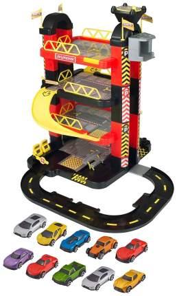 """Игровой набор Teamsterz """"Гараж-башня"""" с 15 машинками, 5 уровней HTI"""