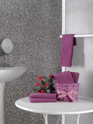 Полотенце Karna Twist Цвет: Красно-Сиреневый (30х30 см - 5 шт)