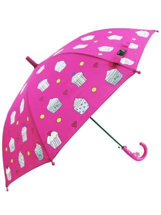 Зонт-трость МихиМихи Капкейки меняющий цвет, розовый