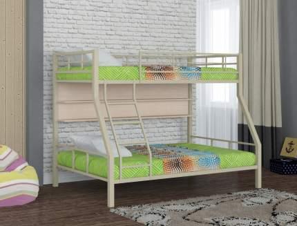 Двухъярусная кровать Redford Гранада-1 с полкой бежевый, молочный дуб