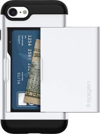 Чехол-визитница Spigen Slim Armor CS для Apple iPhone 7/8 Jet White (042CS21038)