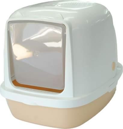 Туалет для кошек HOMECAT, прямоугольный, бежевый, 53х39х48 см