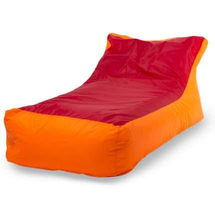 Бескаркасный модульный диван ПуффБери Кушетка one size, оксфорд, Оранжевый/Красный