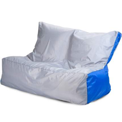 Бескаркасный диван ПуффБери Оксфорд One Size, оксфорд, Серый/Синий