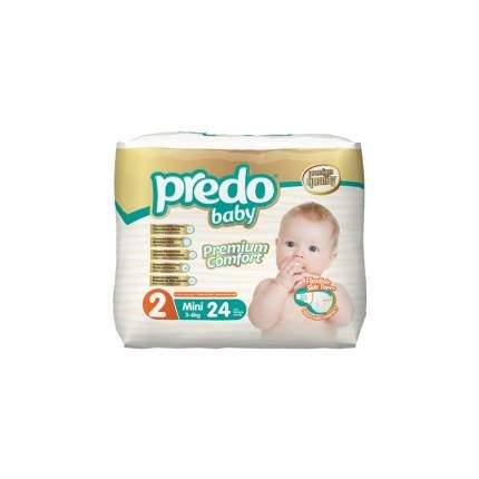 Подгузники для новорожденных Predo Baby Экономичная пачка (24 шт.) № 2 (3-6 кг.) мини