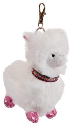 Мягкая игрушка ABtoys Лама белая с карабином, 12 см
