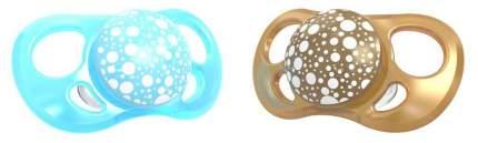 Пустышка Twistshake Pearl, цвет: синий и медный, 2 штуки (large)