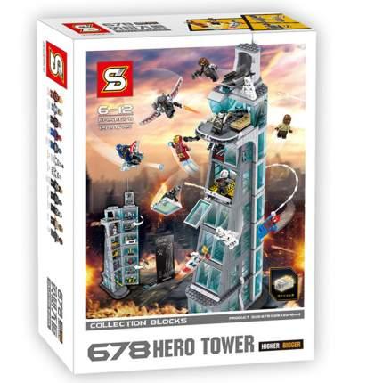 Конструктор мстители SY SH678 Нападение на башню Мстителей