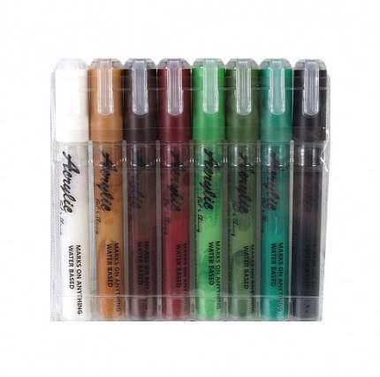 Набор акриловых маркеров Fat&Skinny Forest 8 штук