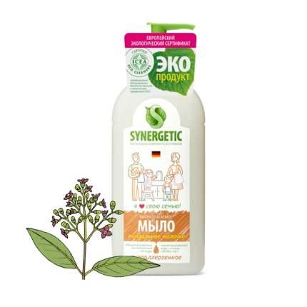 """Жидкое мыло SYNERGETIC """"Миндальное молочко"""" с эффектом увлажнения, гипоаллергенное, 0,5л"""