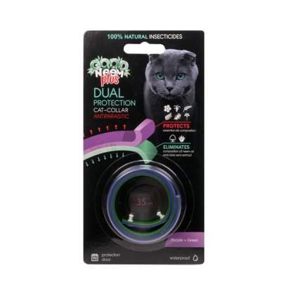 Ошейник GOOD NEEM, антипаразитарный БИОошейник для кошек с маслом, зеленый, 35см