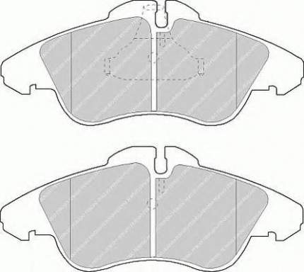 Комплект тормозных колодок Ferodo FVR1038