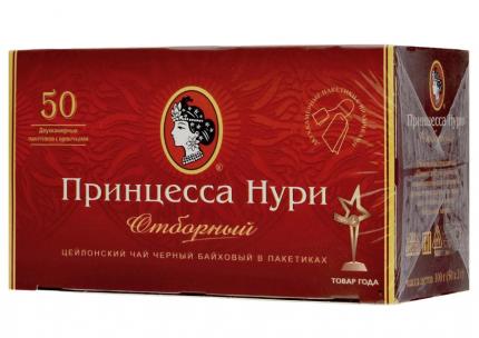 Чай Принцесса Нури цейлонский отборный черный байховый в пакетиках 50 пакетиков