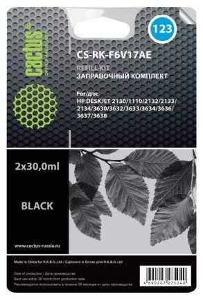 Заправочный комплект для струйного принтера Cactus CS-RK-F6V17AE черный
