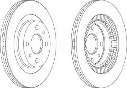 Тормозной диск FERODO DDF1147