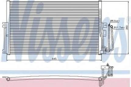 Радиатор кондиционера Nissens 94234