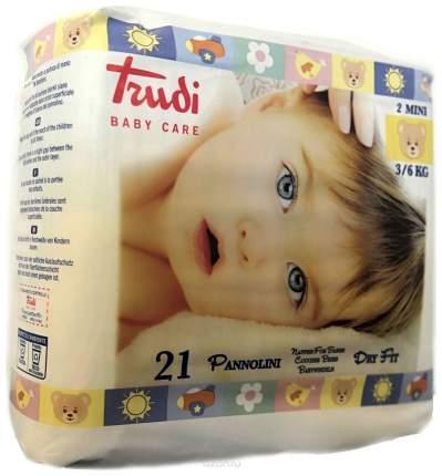 Подгузники детские для новорожденных TRUDI №2 MINI 3 - 6 кг 21 штука