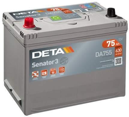 Аккумулятор автомобильный DETA DA755 75 Ач
