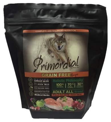 Сухой корм для щенков Primordial Grain Free Puppy, курица, рыба, 0.4кг