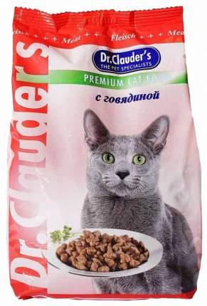 Сухой корм для кошек Dr.Clauder's Premium Cat Food, говядина, 0,4кг
