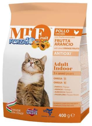 Сухой корм для кошек Forza10 Mr Fruit Indoor, для домашних, курица, рыба, 0,4кг