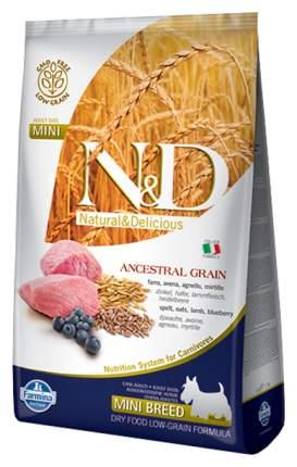 Сухой корм для собак Farmina N&D Ancestral Grain Adult Mini, ягненок и черника, 7кг