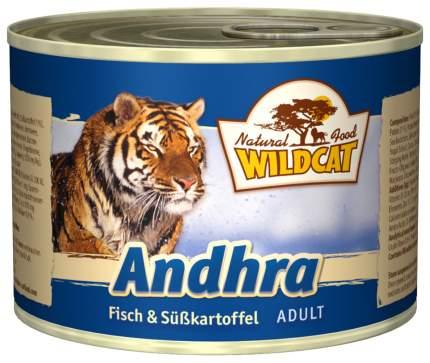 Консервы для кошек Wildcat, лосось, рыба, 200г