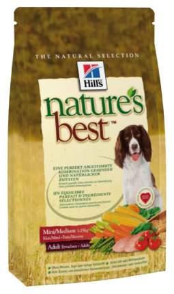 Сухой корм для собак Hill's Nature's Best Mini/Medium Adult, курица, овощи, 12кг