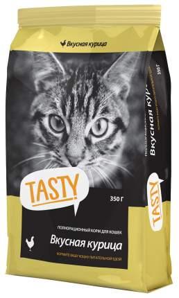 Сухой корм для кошек TASTY, курица, 0,35кг