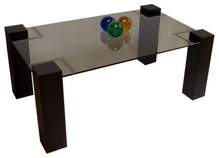 Журнальный стол Мебелик 42х100х60 см, черный